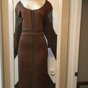 EUC STUNNING ASHLEY STEWARD silk/ cotton dress.